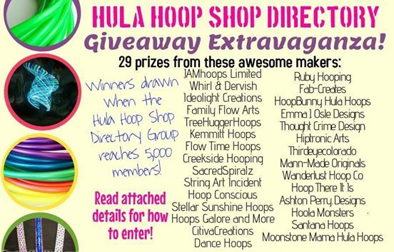 Hula Hoop Shop Directory Giveaway Contest