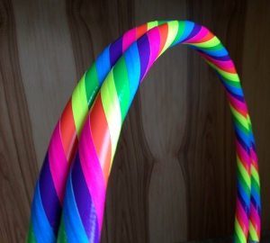 HoopBunny Pink Rainbow Collapsible Hula Hoop
